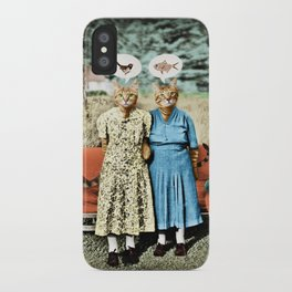 Two Cool Kitties: What's for Lunch? iPhone Case