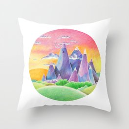 The Ice Kingdom Throw Pillow
