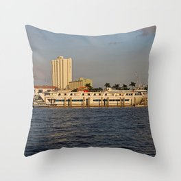 Shoreline in Fort Myers I Throw Pillow