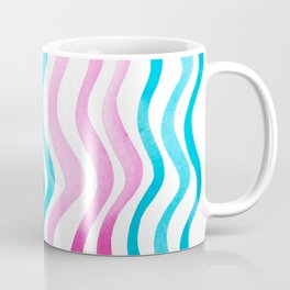 Wavy lines - pink and blue Coffee Mug