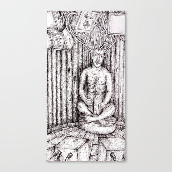 digital meditation Canvas Print