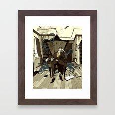 H.P. Lovecraft Framed Art Print