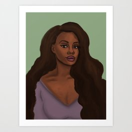 Leah African American Woman Art Print