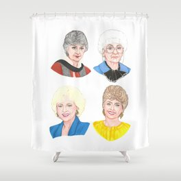 The Golden Girls Shower Curtain