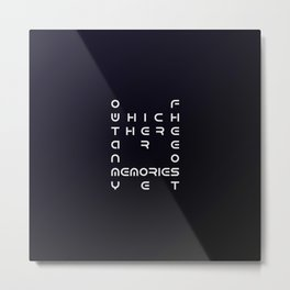 Of Which There Are No Memories Yet No.2 Metal Print