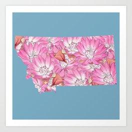 Montana in Flowers Art Print