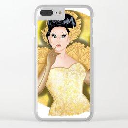 Golden BenDeLaCreme Clear iPhone Case