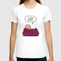 "charlie brown T-shirts featuring Charlie Brown ""I Hate Myself"" Quote by TOM / TOM"