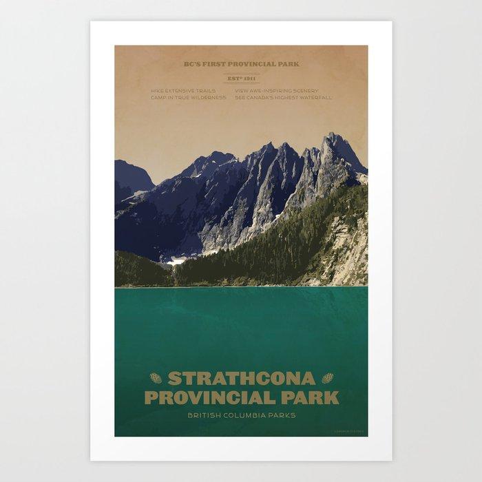 Strathcona Provincial Park Art Print