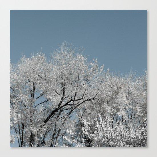 White landscape Canvas Print