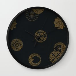 Japenese Black and Gold Wall Clock