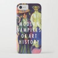 modern vampires of art history iPhone & iPod Cases featuring Modern Vampires by Modern Vampires of Art History