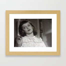 All The Boys Think She's a Spy Framed Art Print