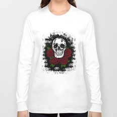 Skull and Rose Long Sleeve T-shirt