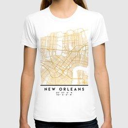 NEW ORLEANS LOUISIANA CITY STREET MAP ART T-shirt