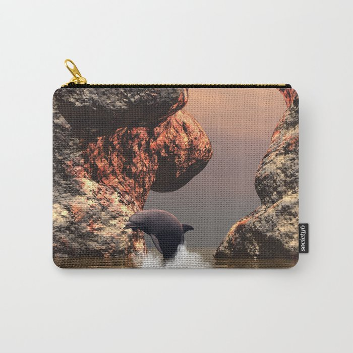 Dolphin in the sunset Carry-All Pouch