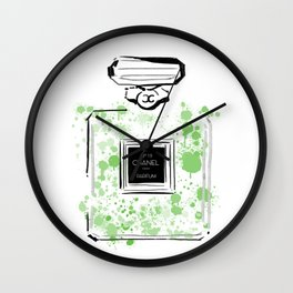 Green Perfume 2 Wall Clock
