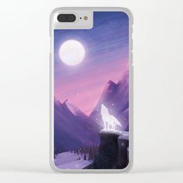 I was a Wolf. And she, my Moon Clear iPhone Case