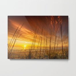 Sunrise from the Dunes at the Outer Banks, North Carolina Metal Print