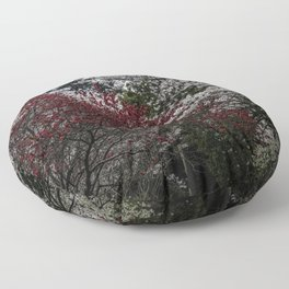 Japanese spring blossom in reds and pinks Floor Pillow