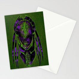 Soldier Predator Green Purple Stationery Cards