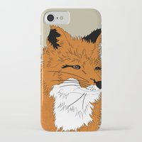mr fox iPhone & iPod Cases featuring Mr Fox by Simone Clark