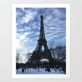 Paris in Winter Art Print