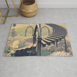 The treppe in the sky Rug