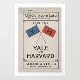 Harvard Yale Game 1925 Art Print