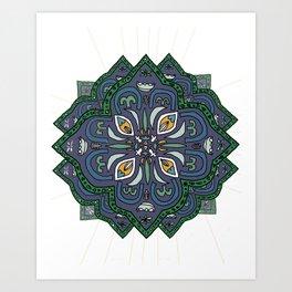 Lively Earth Mandala - v.4 Art Print