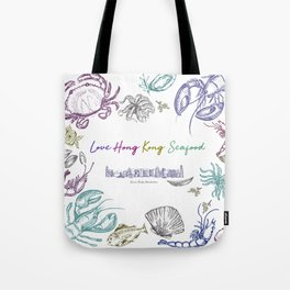 Lovely Hong Kong Skyline & Seafood Tote Bag