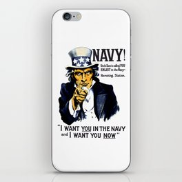 I Want You In The Navy -- Uncle Sam iPhone Skin