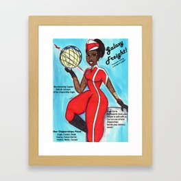 Galaxy Freight Ad Framed Art Print