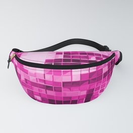 Pink Mirrored Disco Ball Pattern Fanny Pack