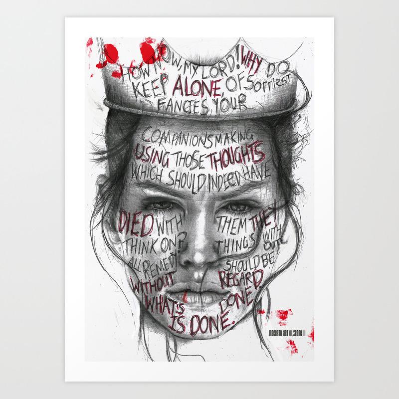 Lady Macbeth Art Print by 97Design   Society6