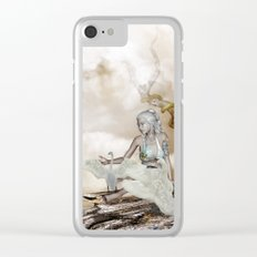 Fairy and the swan Clear iPhone Case