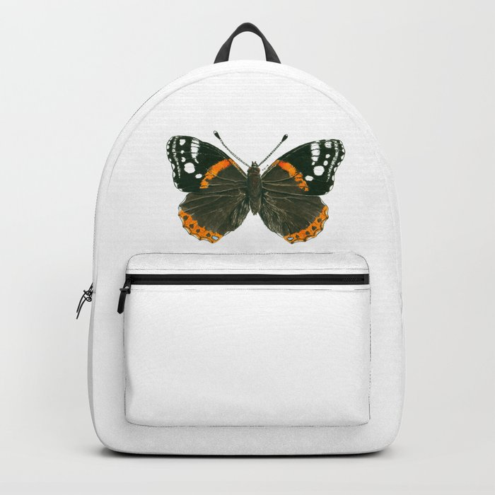 Admiral butterfly ink illustration Backpack