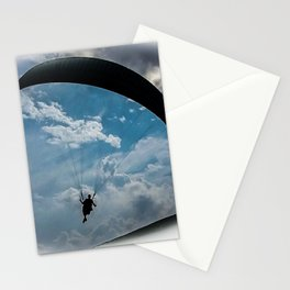 paragliding dark Stationery Cards