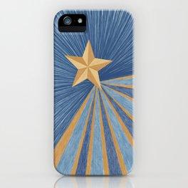 Shining Christmas Star iPhone Case