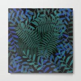 Blue-Green Botanical Metal Print