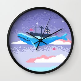 The Adventurous Whale Wall Clock