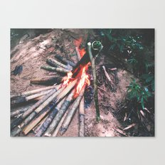 Cooking In The Wild - Borneo style Canvas Print