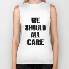 we should all care stronger mens or womens black shirt autism Biker Tank