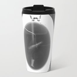 black and white butterfly tea cup Metal Travel Mug