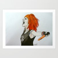 hayley williams Art Prints featuring Hayley by Isabelle Whitaker