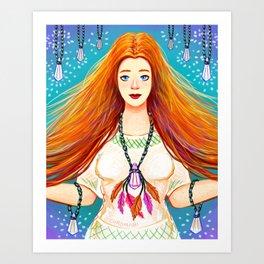 Crystal Healer Art Print