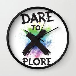 Dare 2 Explore Wall Clock