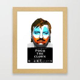 Pogo the Clown Framed Art Print