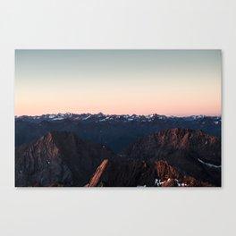Peaceful sunrise over the Alps Canvas Print