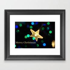 Christmas Star Framed Art Print
